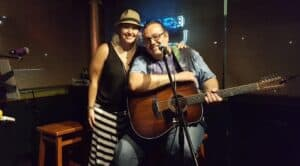 Eve and Paparo at the Thirsty Turtle Port St. Lucie